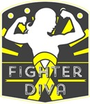 Osteosarcoma Fighter Diva Shirts