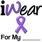 I Wear Purple Ribbon T-Shirts & Gifts