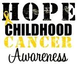 Hope Childhood Cancer Awareness Grunge