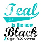 Teal New Black PCOS Awareness T-Shirts & Gifts