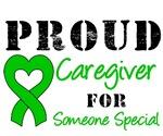 Proud Caregiver Green Ribbon T-Shirts & Gifts