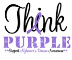 Think Purple Alzheimer's Disease Shirts & Gifts