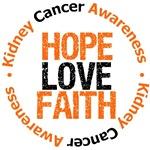 Kidney Cancer Hope Love Faith Shirts & Gifts