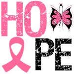 Breast Cancer Hope Butterfly Shirts & Gifts