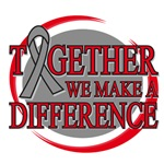 Brain Tumor Together We Make A Difference Shirts