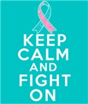 Hereditary Breast Cancer Keep Calm Fight On Shirts