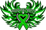 Kidney Cancer Heart Awareness Wings Shirts