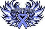 Intestinal Cancer Heart Awareness Wings Shirts