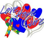 Autism Love Hope Cure Shirts and Gifts