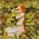 Waterhouse: Ophelia by the pond (1894)