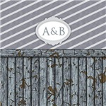 Maritime wall with customizable monogram (many col
