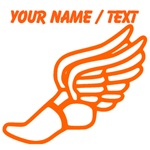 Custom Orange Winged Running Shoe