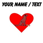Custom Chesapeake Bay Retriever Heart