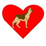 German Shepherd Heart