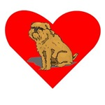 Brussels Griffon Heart
