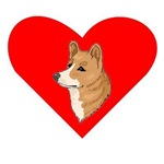 Pembroke Welsh Corgi Heart