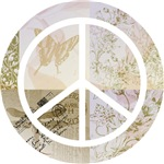 Pink and Gold Peace Sign
