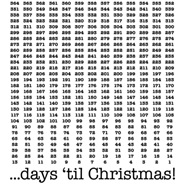 Number of Days 'til Christmas