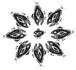 Retro Tuna Star Pattern
