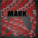 Made of words name MARK
