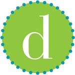 d monogram, lime