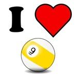 I Heart Nine Ball