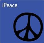 Blue iPeace Sign