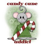 Mouse Candy Cane Addict T-shirts and Gifts