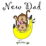Monkeys Dad of Twins TShirts and Gifts