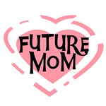Pink Heart Future Mom Tshirts and Gifts
