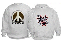 USA & Peace Hoodies & Sweatshirts