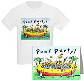 Pool Party Invitations & Shirts