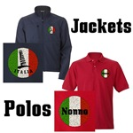 Italian Flag Stitched Polos & Jackets