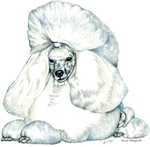 White Poodle Portrait Dog Lover Gifts Items