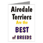 Airedale Terrier Stamps Note Cards and Postcards