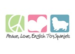 Peace, Love, English Toy Spaniels