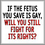 If the fetus you save is gay...