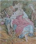 Rococo Couple At Picnic