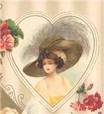 Huge Hat Edwardian Lady