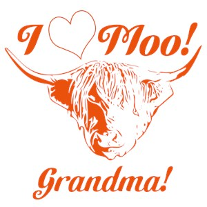 I Love Moo! Highland Cow