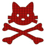 Winter Plaid Kitty X-Bones