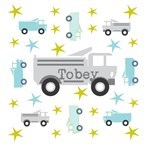 Personalize it! Trucks & Stars Gray