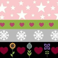 Copy of Holiday Stripes -pink
