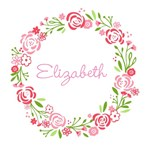 Personalize it! Shabby Chic Wreath - pink