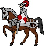 Knight Mounted On Horse