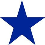 Five Pointed Blue Star