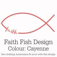 Cayenne Pink Faith Fish Design