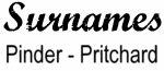 Vintage Surname - Pinder - Pritchard