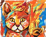 Cat Peace Sign