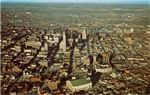 1950's Aerial View of Downtown Minneapolis